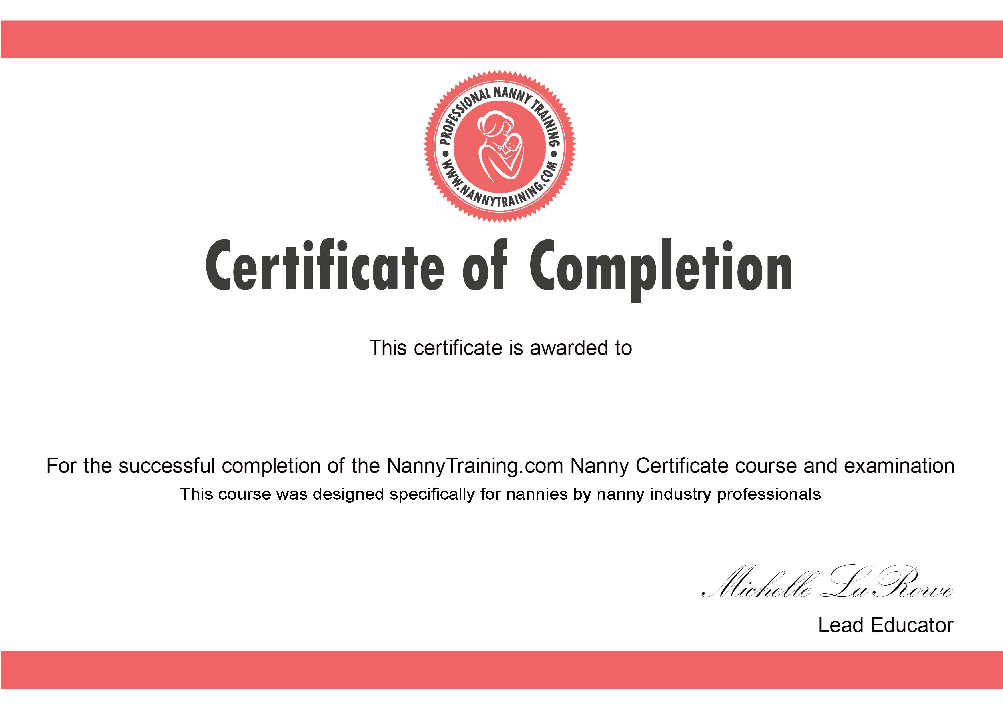 Nanny Certificate Course
